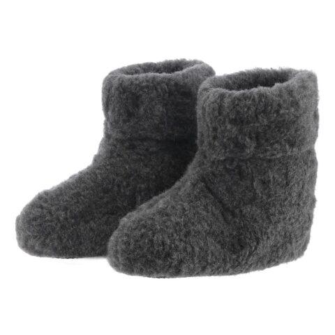 Bamsefutter 100% uld mørke grå hjemmesko