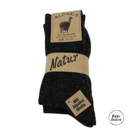 Alpaca sokker sorte fra Rikke Gellert