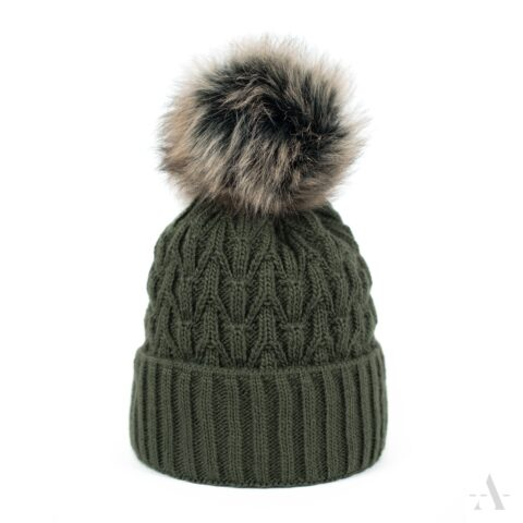hue med fleece foer army grøn