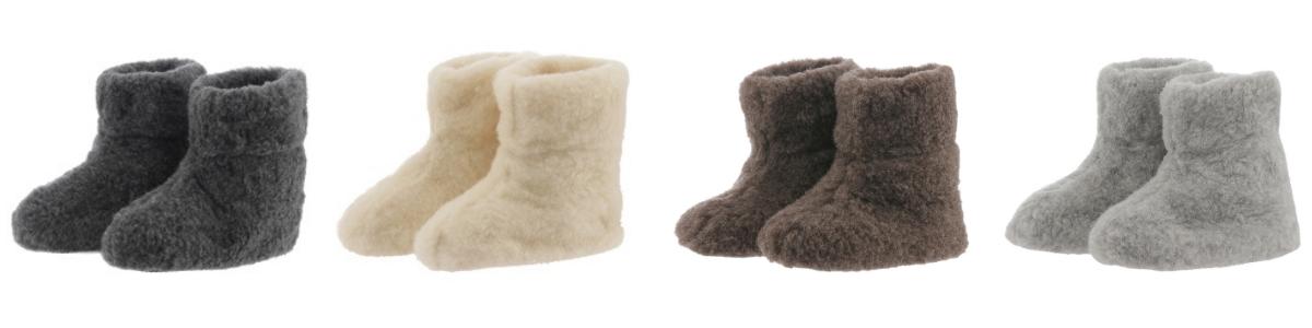 bamsefutter 100% uld hjemmesko bamsestøvler